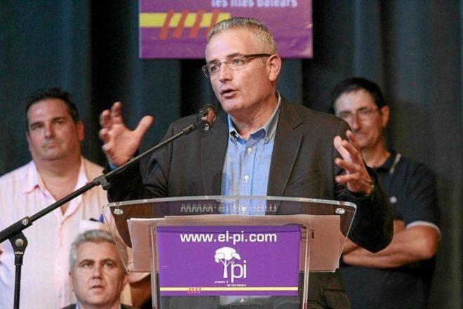 El presidente del PI durante el congreso de su formación el pasado octubre.