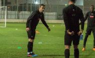 Gabi, durante un entrenamiento reciente con el Al Sadd.