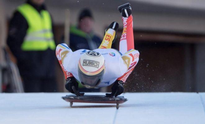 Mirambell, la pasada semana, durante un entrenamiento en St. Moritz.