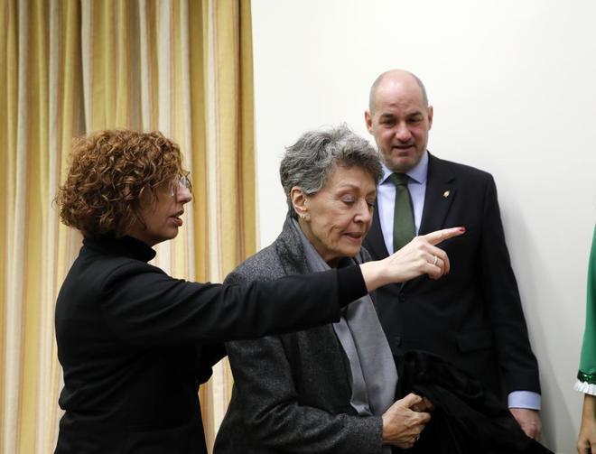 Rosa María Mateo, administradora única de RTVE, durante una...