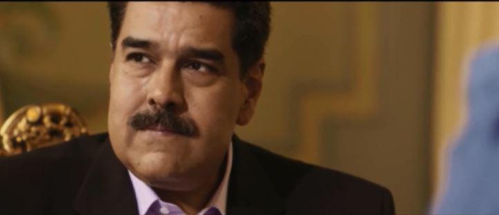 Nicolás Maduro, en un momento de la entrevista.