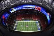 Imagen del Mercedes-Benz Stadium de Atlanta hoy, sede de la Super Bowl.