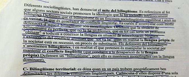 Extracto de los apuntes de Sociolingüística de 2º de bachillerato.