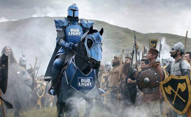 Imagen del anuncio entre Juego de Tronos y Bud Light de la Super Bowl...