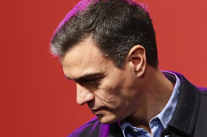 El presidente del Gobierno, Pedro Sánchez, durante un acto del PSOE de Madrid