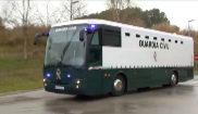 Traslado de los presos independentistas en un autobús de la Guardia...