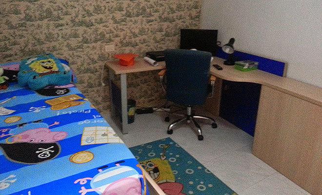Habitación infantil de la casa de Alcalà en rifa.