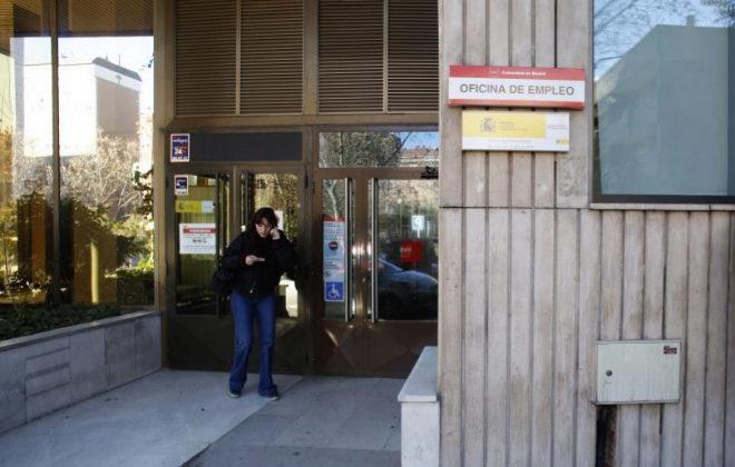 Oficina de empleo en la Comunidad de Madrid.