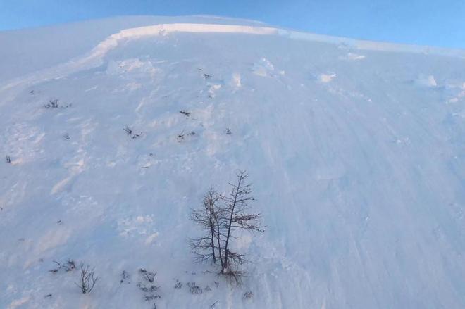 Imagen de la avalancha cedida por el Servicio de Socorro Alpino.