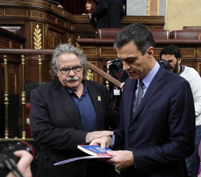 El diputado de ERC en el Congreso, Joan Tardá, con el presidente...