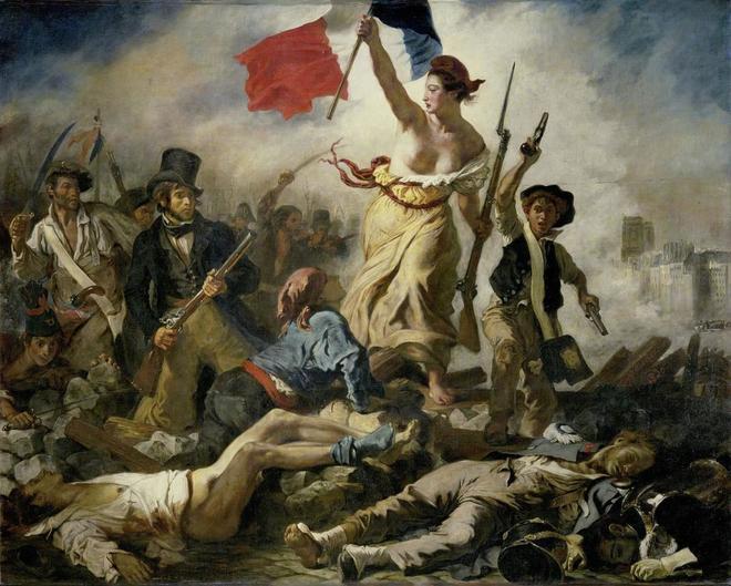 'La libertad guiando al pueblo', de Eugène Delacroix.