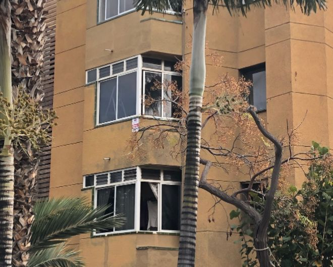 La vivienda donde fue asesinada la mujer.