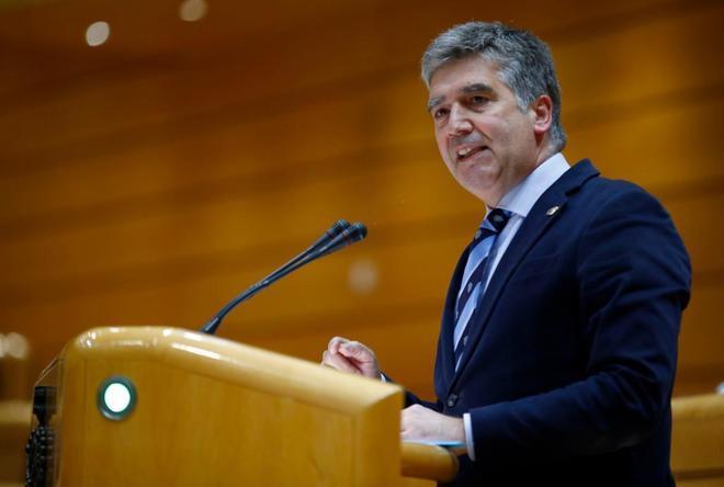 El portavoz del PP en el Senado, Ignacio Cosidó, durante un pleno en la cámara