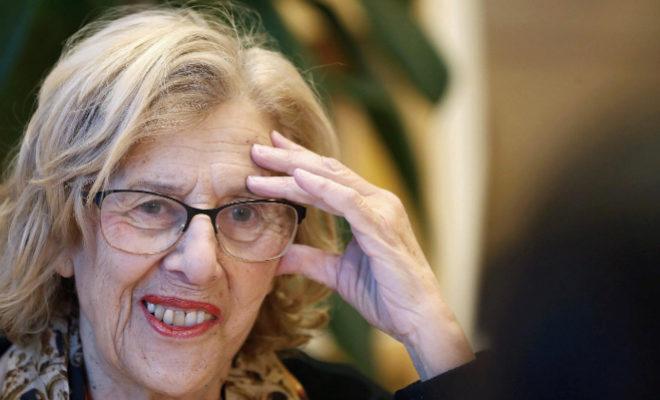 La alcaldesa de Madrid, Manuela Carmena, en la entrevista.
