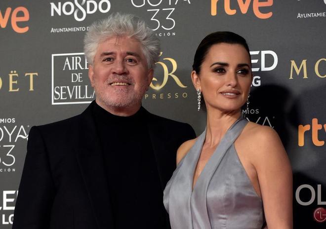 Pedro Almodóvar y Penélope Cruz en la última gala de los Goya.