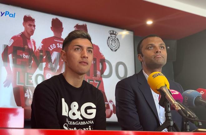 Leo Suárez, en su presentación oficial como jugador del Real Mallorca.