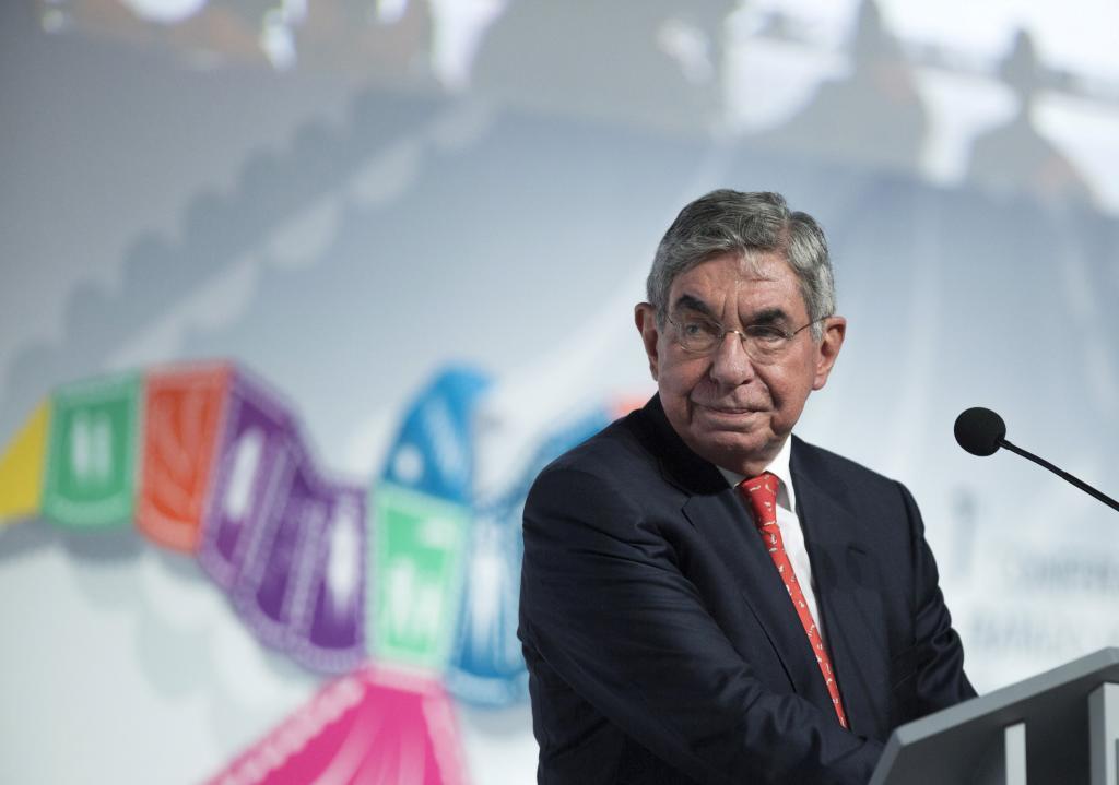 El ex presidente y Nobel de la Paz Oscar Arias.