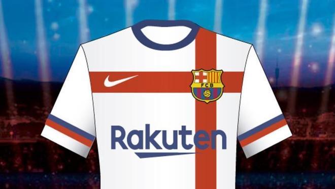 9b67ed44006 La camiseta blanca del Barcelona que habría estado prevista para la  temporada 2020/21.