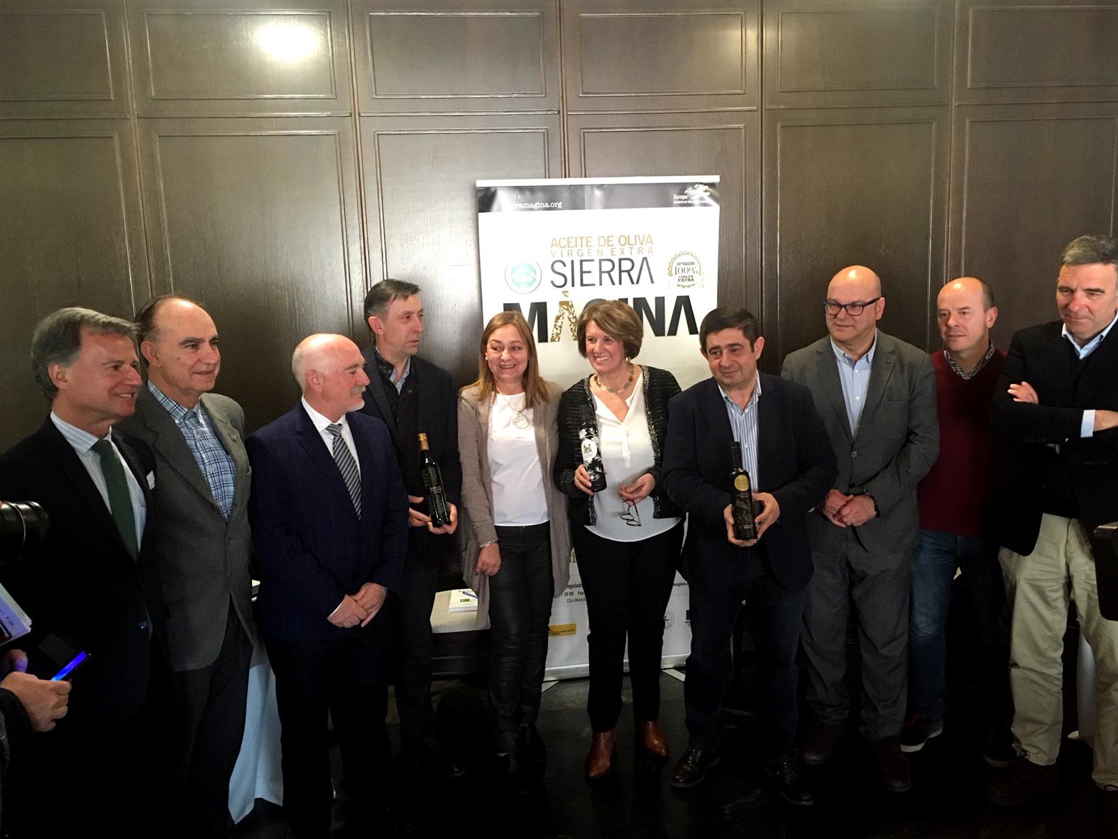 El presidente de la Diputación de Jaén Francisco Reyes en un reciente acto sobre aoves de Sierra Mágina.