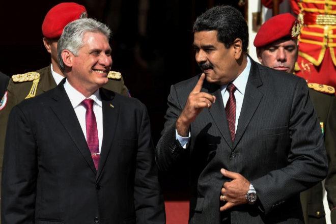 El presidente cubano, Miguel Díaz-Canel, y su homógolo venezolano, Nicolás Maduro.