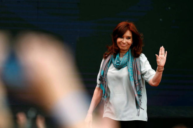 Cristina Fernández en noviembre de 2018 en el Foro Mundial sobre Pensamiento Crítico.