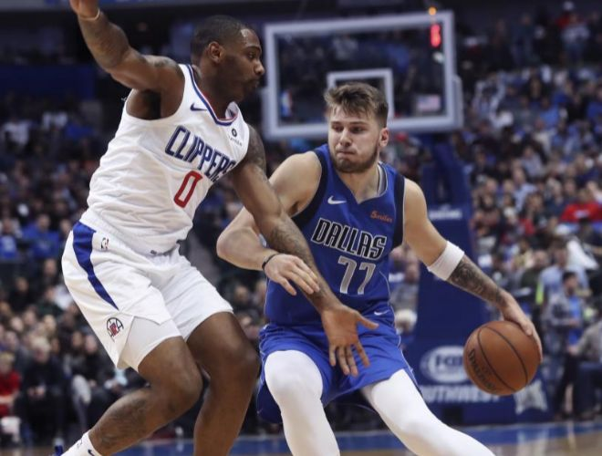 Luka Doncic, en un partido reciente ante Los Angeles Clippers.