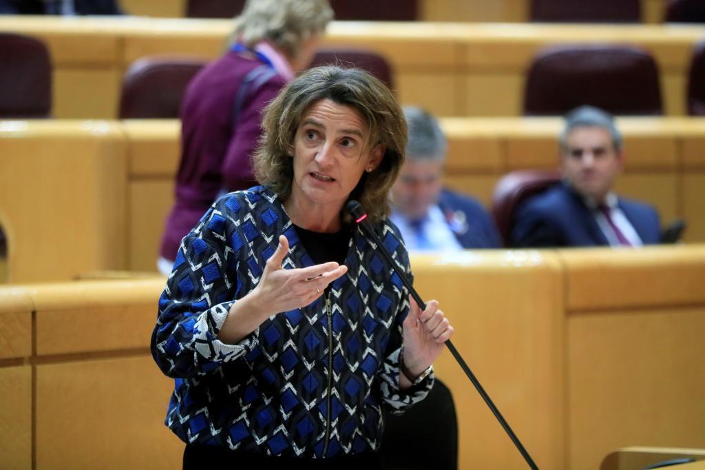 La ministra de Transición Ecológica,, Teresa Ribera, el pasado martes en el Senado.