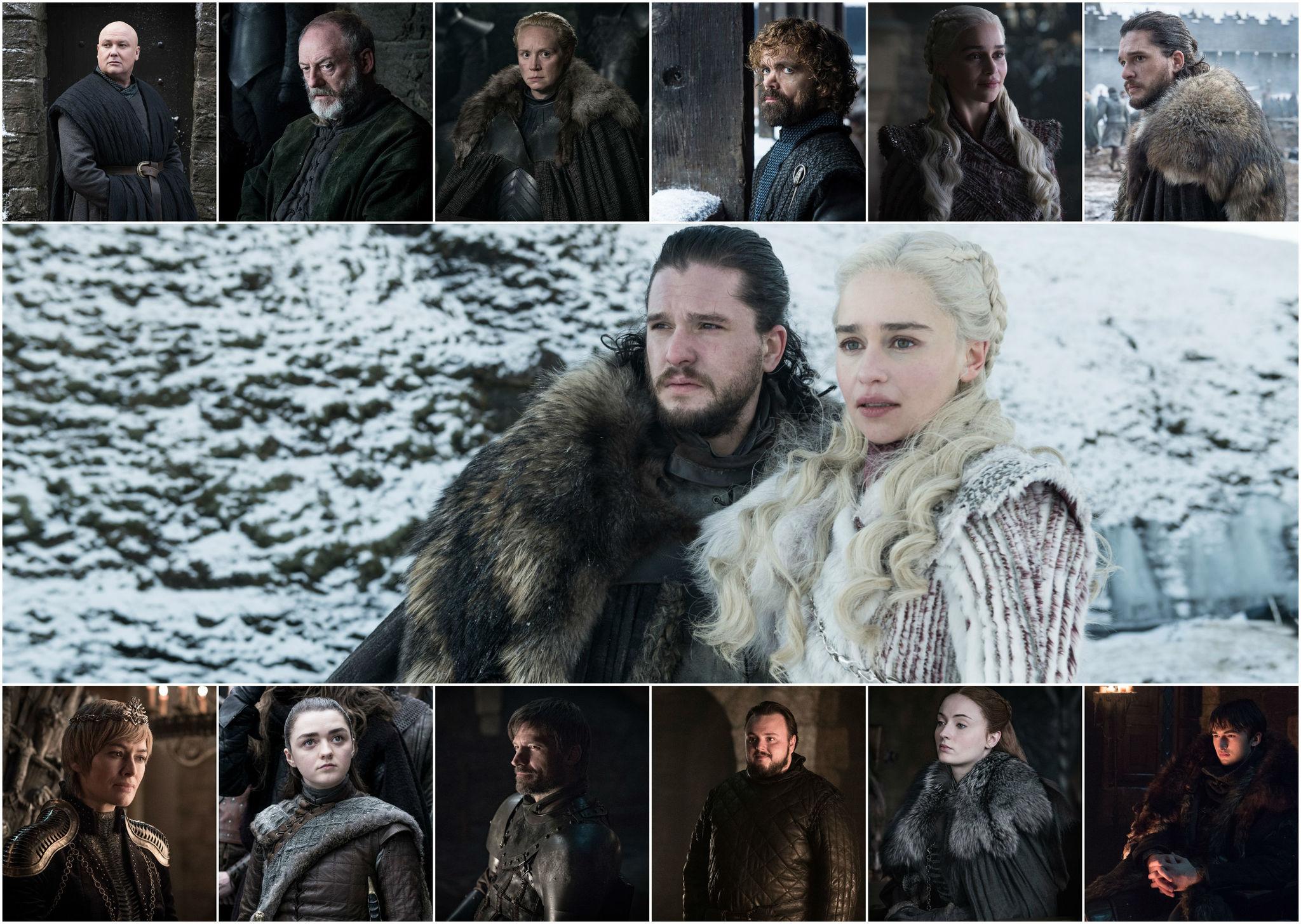 Imágenes de la octava y última temporada de la serie Juego de Tronos