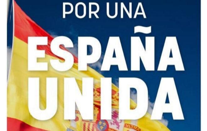 Cartel de la manifestación convocada por PP y Ciudadanos en Madrid...