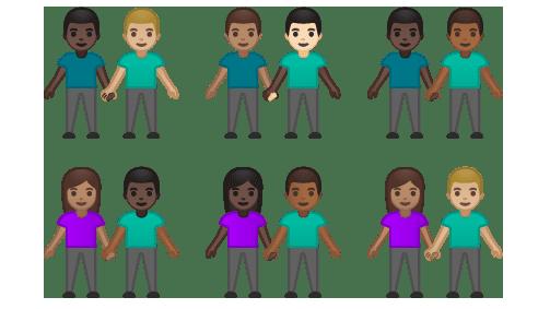 Presentan los nuevos emojis con 171 variantes de género y tono de piel