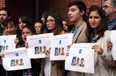 Empleados de la agencia Efe en Colombia se manifiestanen defensa de...
