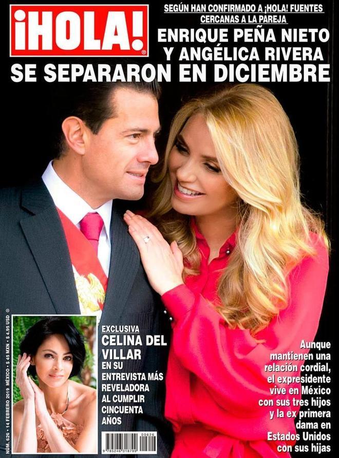 Fotografía cedida por la Revista HOLA! con su portada con Peña Nieto y Angélica Rivera.