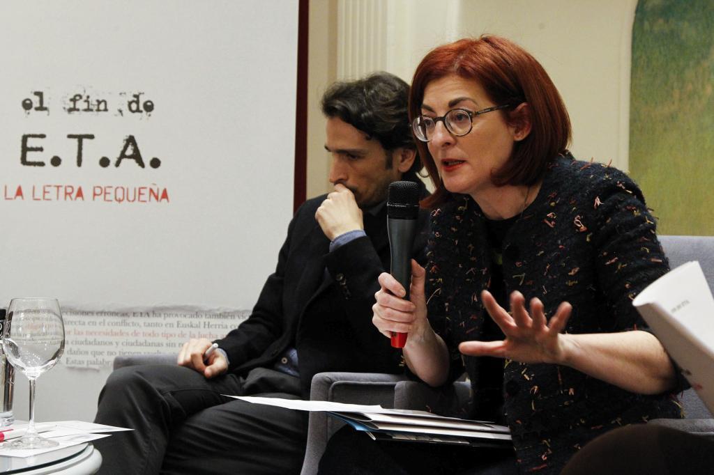 Maite Pagazaurtundua en el acto celebrado en San Sebastián.