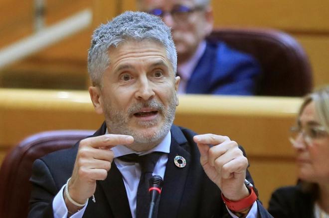 El ministro del Interior, Fernando Grande-Marlaska, durante la última...