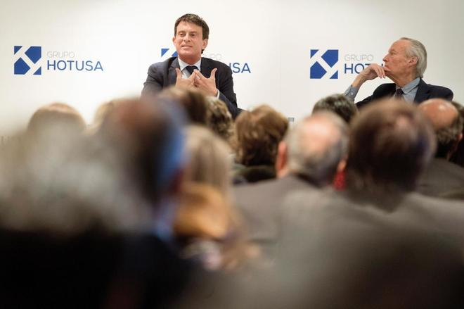 El candidato de Ciudadanos a la alcaldía de Barcelona, Manuel Valls,...