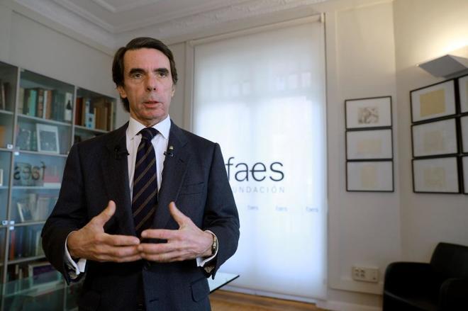 El ex jefe del Gobierno y presidente de la Fundación FAES, José María Aznar