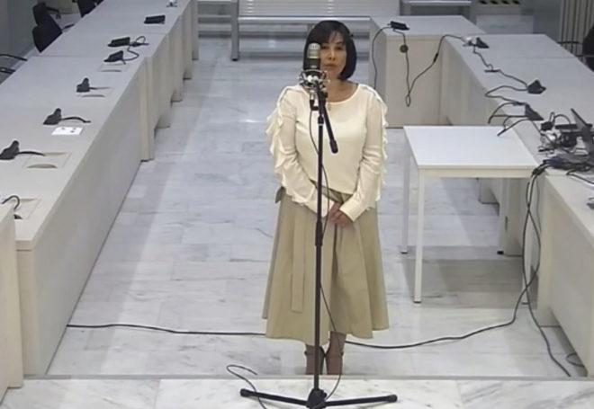 Claudia Patricia Díaz Guillén, enfermera personal del fallecido presidente venezolano Hugo Chávez, durante el juicio.