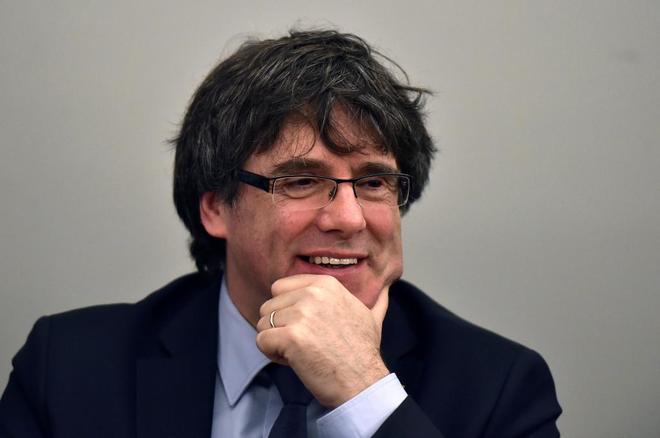 El ex presidente de la Generalitat, Carles Puigdemont, en marzo de...
