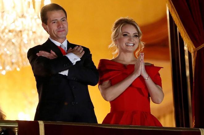 Enrique Peña Nieto y Angélica Rivera, el pasado 15 de septiembre.
