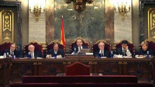 Los siete miembros del tribunal que juzga el 1-O.