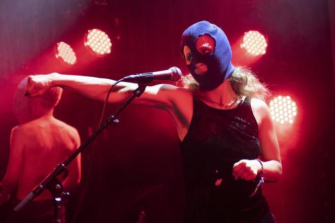 Maria Aliójina durante una actuación en Edimburgo el pasado mes de...
