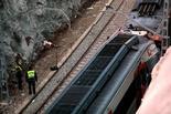 El lugar del accidente ferroviario.