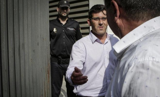 El ex presidente de la Diputación Jorge Rodríguez, tras tras declarar en la Ciudad de la Justicia por el 'Caso Alquería', en junio de 2018.