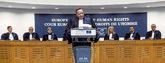El presidente del Tribunal Europeo de Derechos Humanos, Guido...