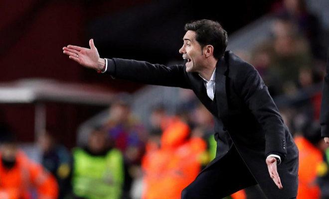 El entrenador del Valencia,Marcelino García, Toral en el último compromiso de Liga ante el Barcelona en el Camp Nou.