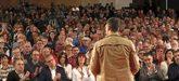 El presidente del Gobierno, Pedro Sánchez, durante un acto con...