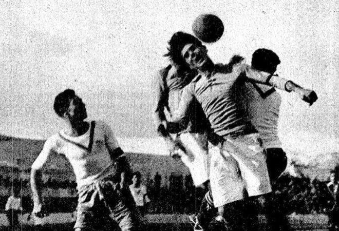 Primer partido de Liga celebrado el 10 de febrero de 1929. El Madrid ganó al Europa.