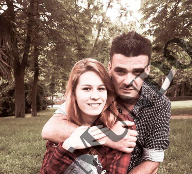 Daría y su novio Manuel durante una imagen de ambos en 2016.