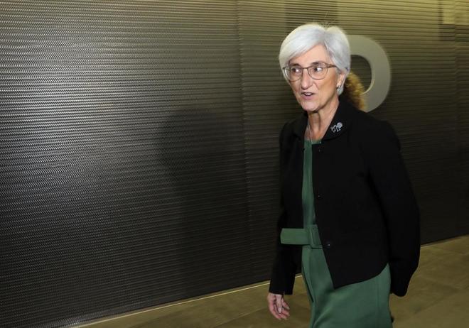 La fiscal general del Estado, María José Segarra, visita en...