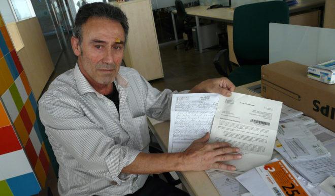José Tomás Ibáñez denunció a este rotativo la situación a la que se ha visto abocado.